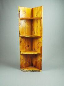 Yew Corner Unit / shelf, Handmade from Scottish wood