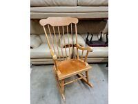 BEECH WOOD STICK BACK ROCKING CHAIR EXCELLENT CONDITION