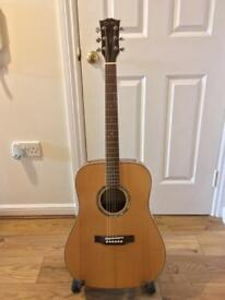 Sheridan electro acoustic guitar with hardcase