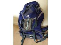 Karrimor 55L Backpack / Rucksack - Aluminium Frame