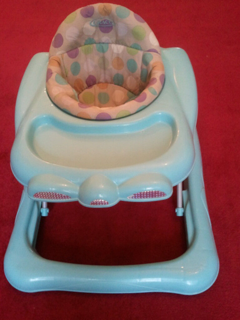 BABY WALKER WITH TRAY, MOTHERCARE, GRACO, ADJUSTABLE SEAT