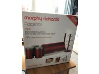 Morphy Richards Accents Red Storage Set