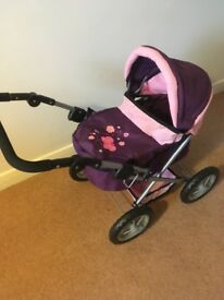 Dolls pram in excellent condition