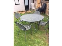 John Lewis garden table and 4 chairs