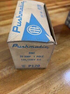 Ite Pushmatic P120 Single Pole 20a Circuit Breaker  B199