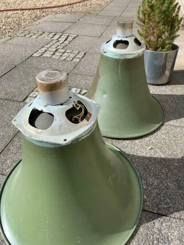 "pair horns for 7"" AlNiCo horn driver vintage speaker big size siemens Klangfilm"