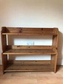Three shelf wooden unit