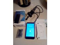 Alcatel Pop 4/ 4 gb mobile phone slate grey with all accessories...