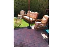 Cane garden/conservatory furniture set