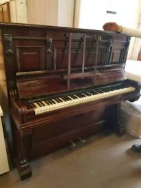 John Brinsmead and Sons brown upright piano