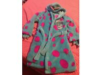 For Sale Kids Disney Store Sulley Dressing Gown Age 5-6 Years