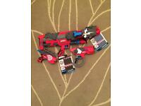 3 Nerf style BoomCo guns with darts and shields