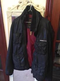 Men's Superdry Leather Jacket - Large