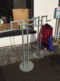TWO CLOTHES RAILS RETAIL SHOP STYLE