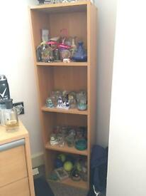 Free standing shelf cabinet
