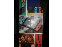 nintendo switch console + joy con steering wheels