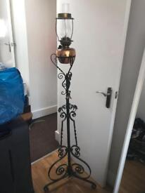 Antique gas oil lamp