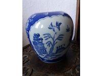 Chinese Design Blue and White Vase