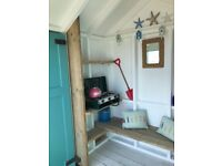 Beach Hut for Sale. Located by Hove lagoon near the beach cafe, water sports and kids playground.