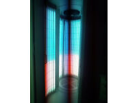 TANSUN VERTICAL SUNBED WITH BUILT IN CHANGING ROOM
