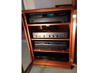 Stereo system - Separates, includes Speakers and Cabinet