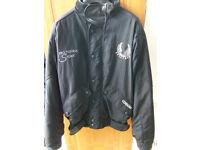 Black Bellstaff cordura pro-toura sport motorbike textile riding jacket part leather