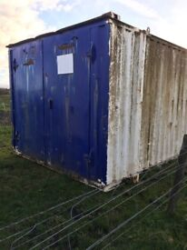 Shipping container storage container