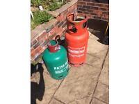 2 propane gas bottles 13kg/19kg