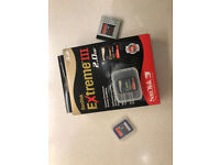SanDisk SD Card x 3 in protective casings