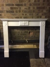 White wood fire surround