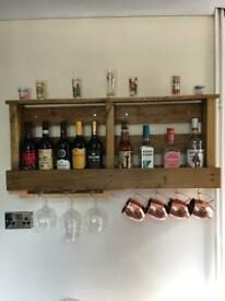 Wooden wine rack/Gin shelf