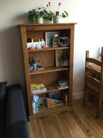 Corona bookcase solid pine wood