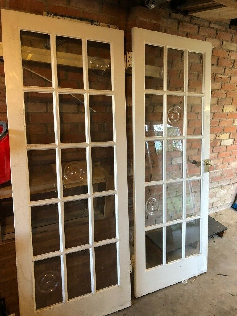 Internal French Doors Glazed In Castle Donington Derbyshire
