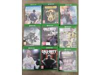Xbox One with 9 games