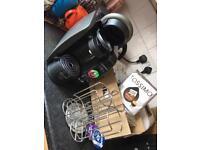 Bosch/tassimo coffee machine, coffee capsules and capsule stand