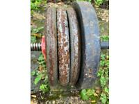 Iron weight plates total 100kg 2x50kg dumbbells