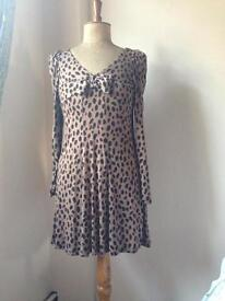 Barbara Hulanicki leopard print dress size UK12.