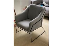 Grey comfortable modern armachair unbranded