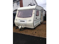 Compass Omega 360/2 2 Berth Caravan 1991. Excellent 1st Caravan with Awning. Fully equipped