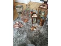 6 lanterns and copper accessesories