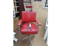 vintage antique barbers chair man cave home