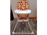 Mothercare fruit salad nearly new highchair £15