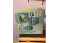 Kids Cube Shelves - blue