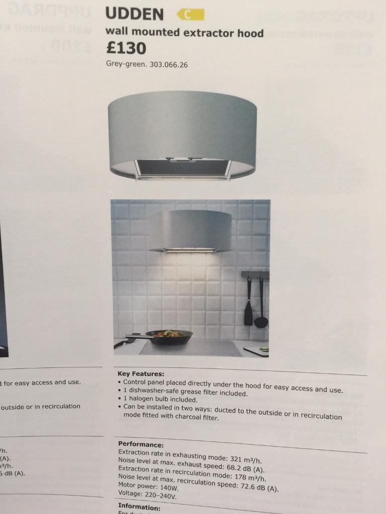 Ikea Kitchen Extractor - Home and Aplliances