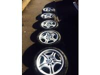 "Set Of 5!! Genuine BMW 17"" Alloys Wheels With Tyres"