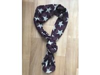 Purple star scarf