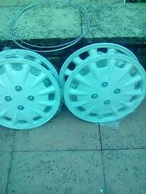 White Wheel rims