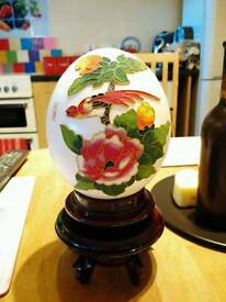 Chinese Decorated ostrich Egg
