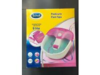 Scholl Pink Pedicure Foot Spa Boxed