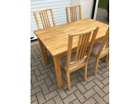 Wooden Dinning Table & 4 Chairs